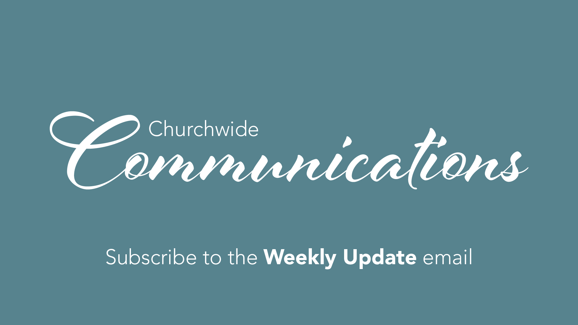 Church Communications Email Graphic